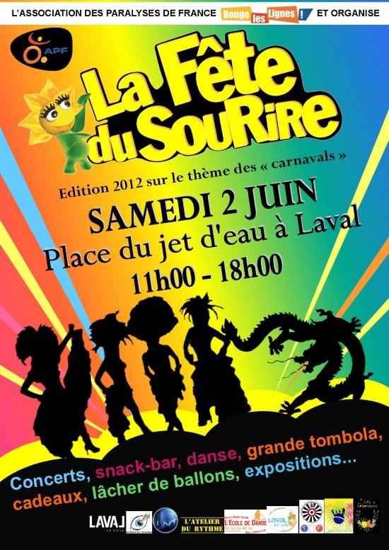 fête du sourire laval, fête du sourire 2 juin 2012, fête du sourire apf, apf 53, apf mayenne fête du sourire