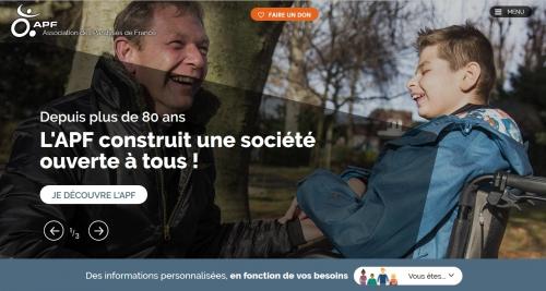 nouveau site apf, apf national, association des paralysés de france