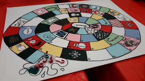 handicap convivialité laval, handicap loisirs, handicap loisirs laval, jeu de l'oie Noël